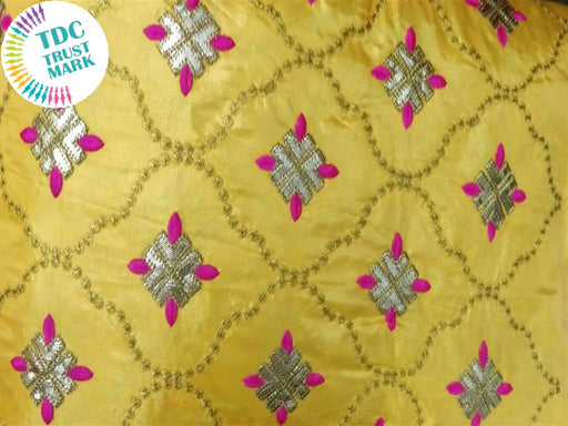 Yellow Argyle Design Paper Silk Fabric (20 Metres)