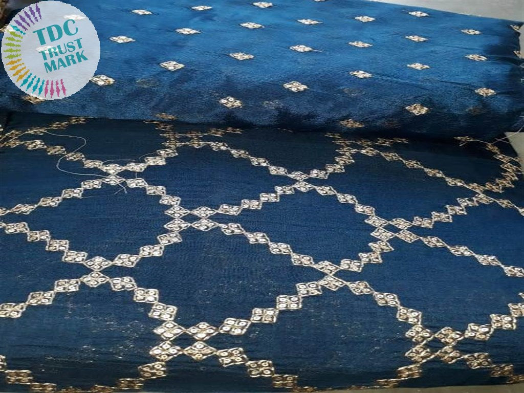 Blue Chiffon Crepe Fabric (6 Meters)