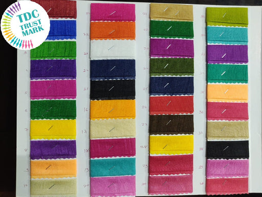 Multicolour Plain Polyester Fabric (140 Metres Any Single Colour)