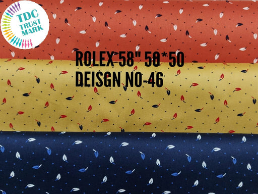 Multicolour Leaves Polka Dots Satin Fabric (300 Metres)