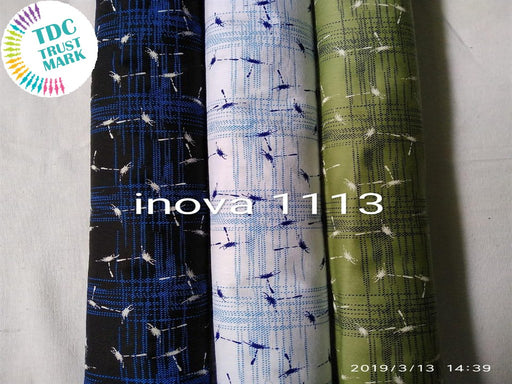 Multicolour Checks Straw Print Poplin Fabric (300 Metres)