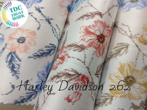 Multicolour Floral Satin Fabric (Set Of 3, 50 Metres Each)
