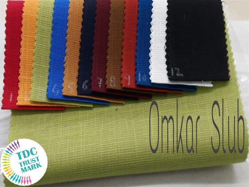 12 Colour Design Cotton linan Matty Slab Fabric (10 Meters Each of Any 6 Color)