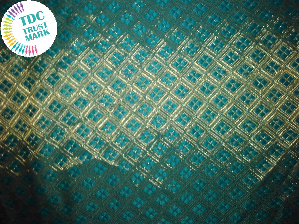 Green Jaipuria Jacquard Fabric (70 Meters)