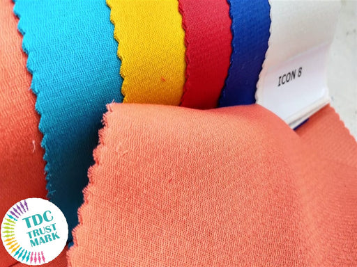 6 Colour Design Cotton Twill Fabric (10 Meters Each Color)