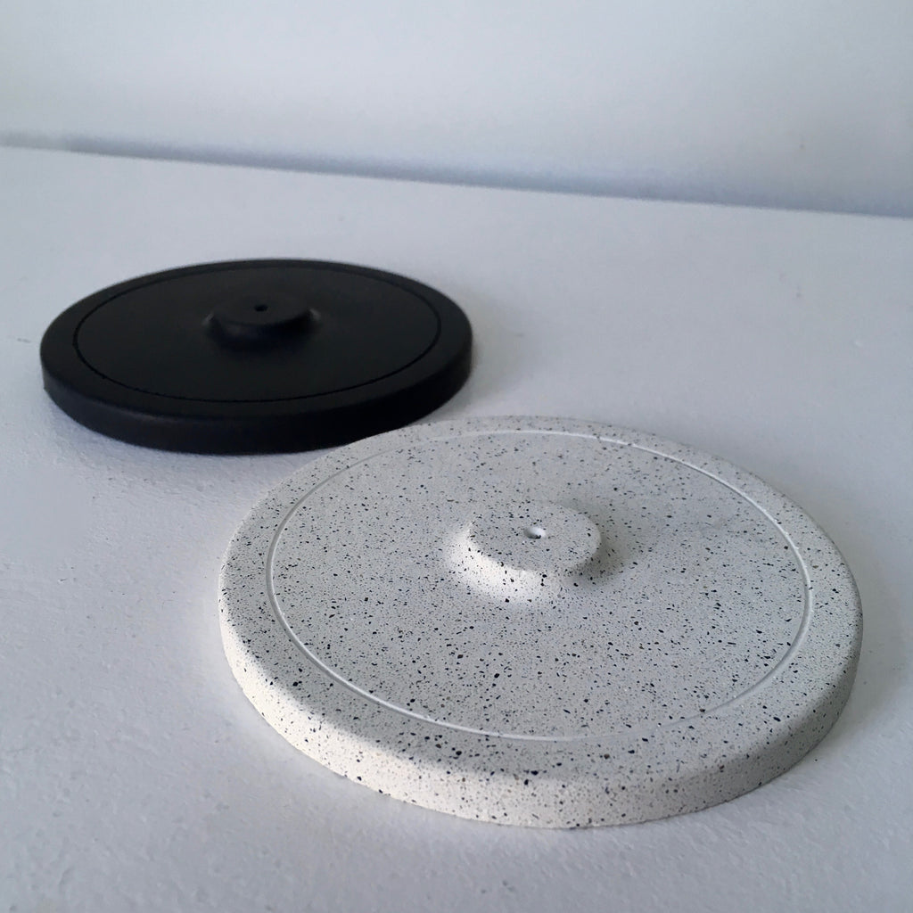 Cast concrete incense burner/holder