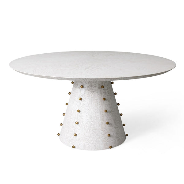 Ivory Gold Studded Dining Table