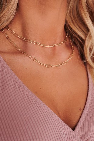 Amelia Layered Chain Necklace