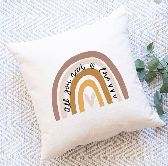 All You Need Is Love Boho Throw Pillow