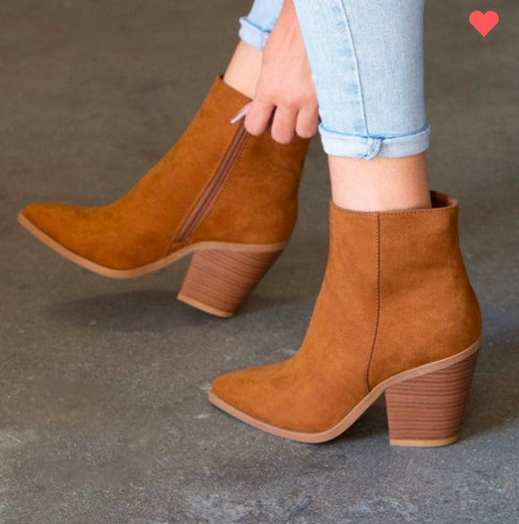 Camel Ankle Deep Booties