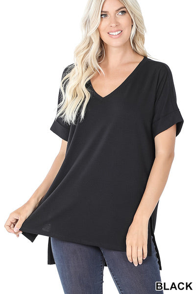 Rolled Sleeve Top (more options)