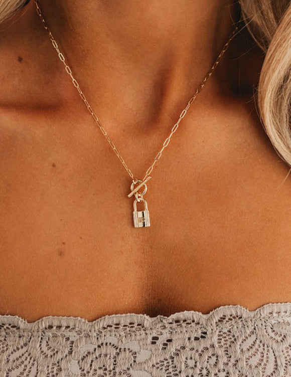 Lock It Up Charm Necklace