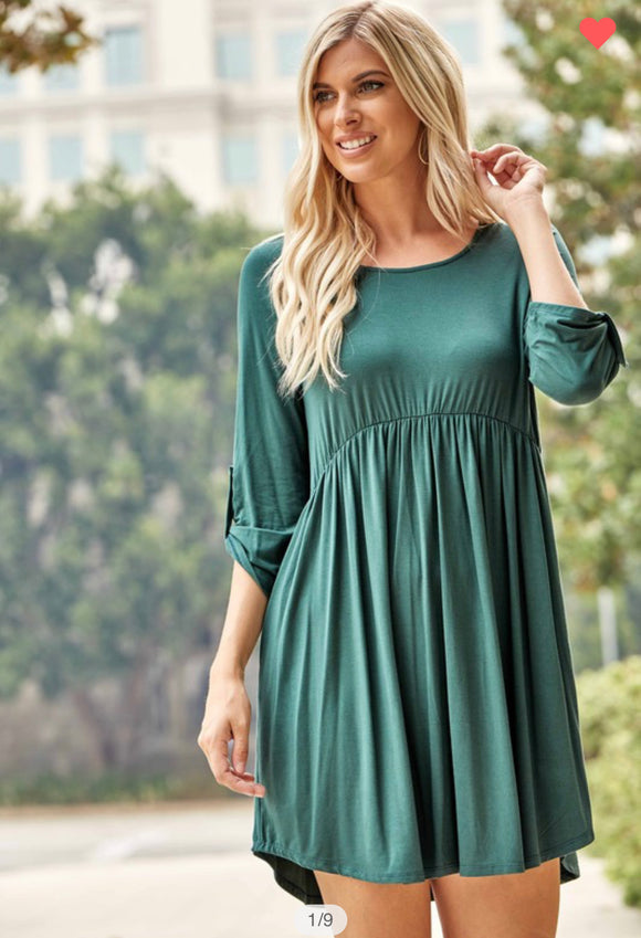 Hunter Green Tunic Dress