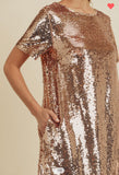 Rose Gold Champagne Dress