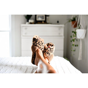 PREORDER Criss Cross Leopard Slippers (more options)