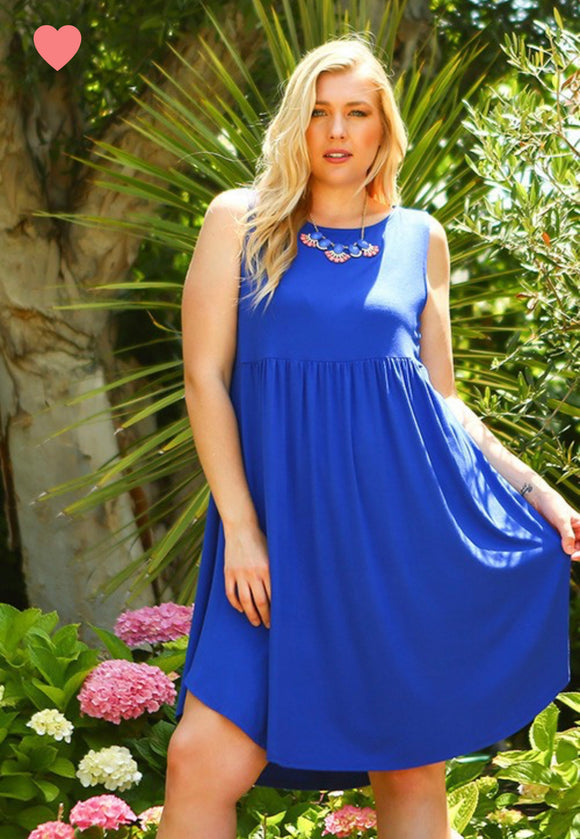 Marcy Swing Dress - QUEEN SIZES