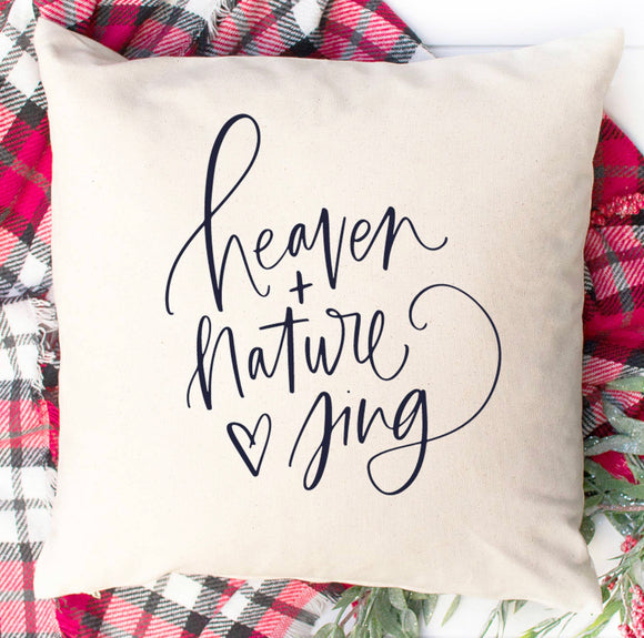Heaven + Nature Sing Throw Pillow