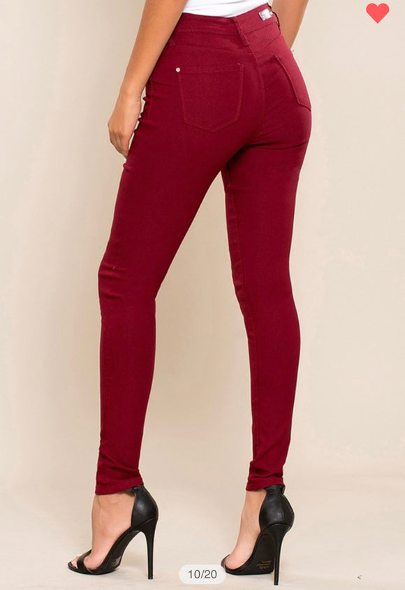Hyperstretch Mid-Rise Skinnies