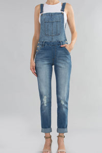 Kancan Overalls in Light Wash