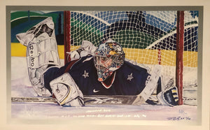 Ryan Miller Limited Edition 2010 Winter Olympics signed Lithograph