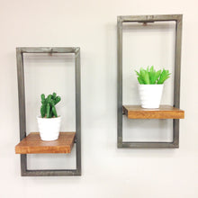 Load image into Gallery viewer, Industrial Style Wall Shelf - Set of 2