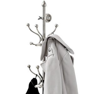 Chrome Wall Mounted Hat and Coat Hanger