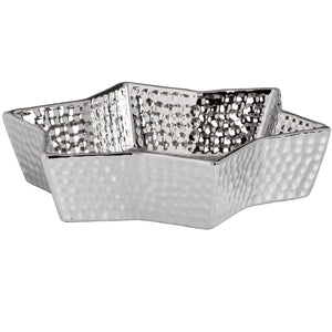 Silver Ceramic Star Display Dish