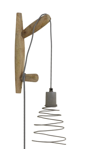 Staden Wall Lamp - Natural & Cement