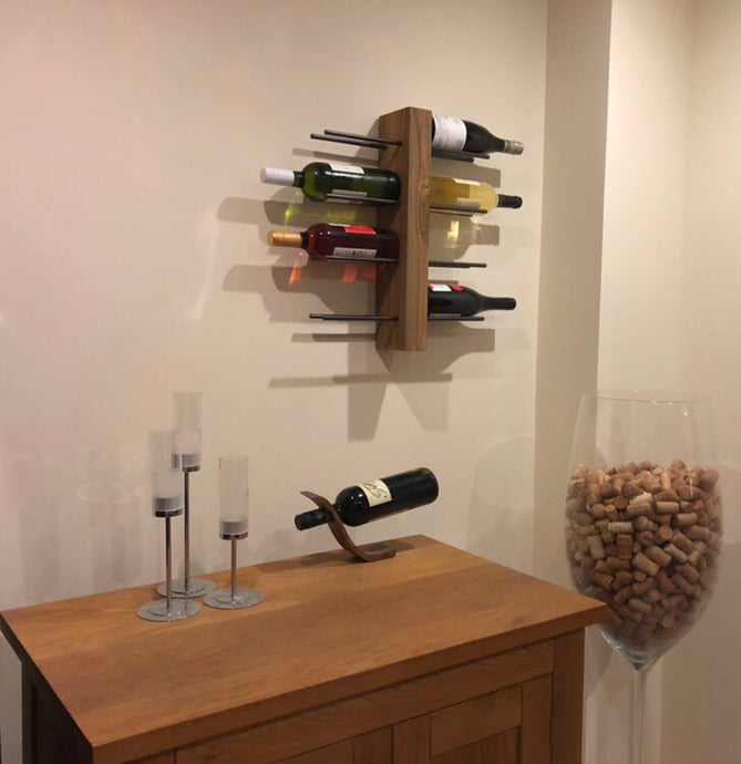 Wall Mounted 8 Bottle Wine Rack