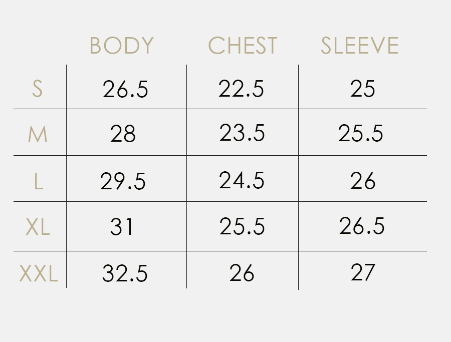 sizing guide for hoodies