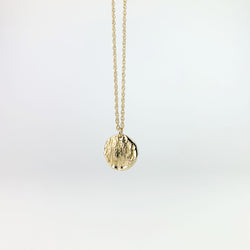 Round Striated Pendant Necklace