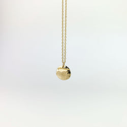 Round Textured Pendant Necklace