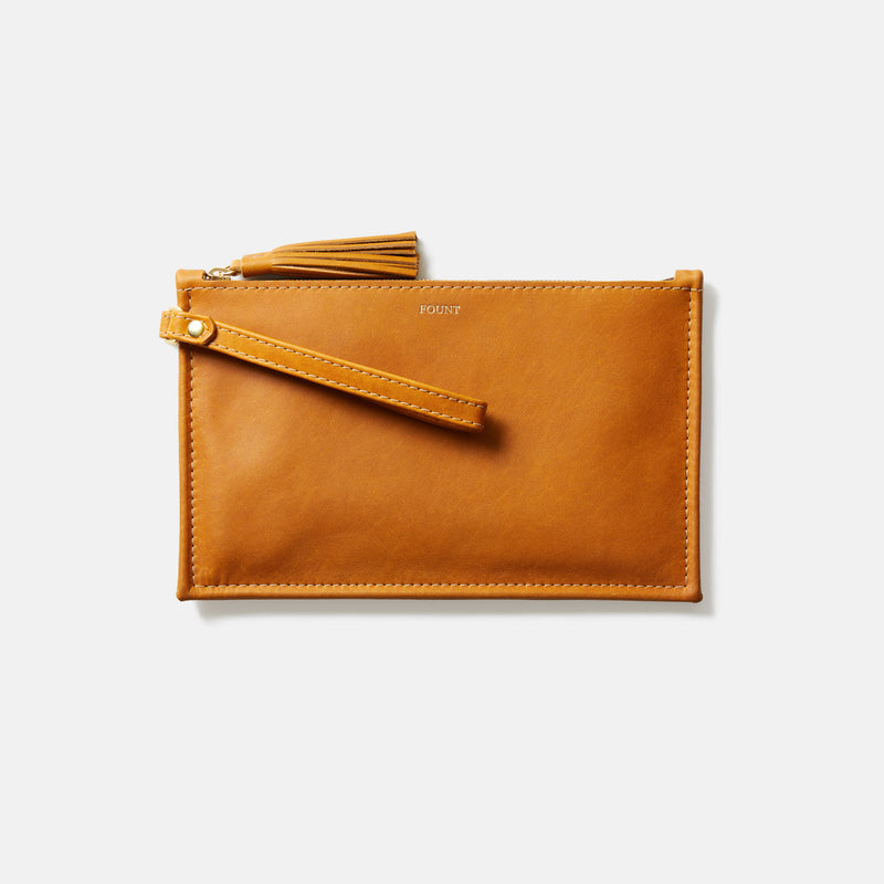 THE PETITE FINLEY CLUTCH IN GOLDENROD