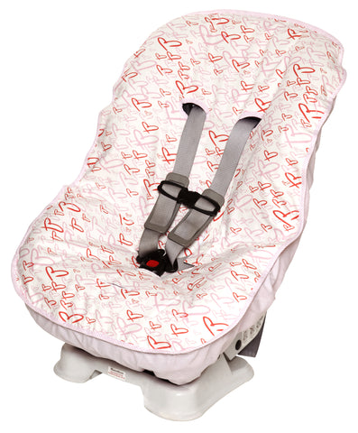Toddler Car Seat Cover Hearts