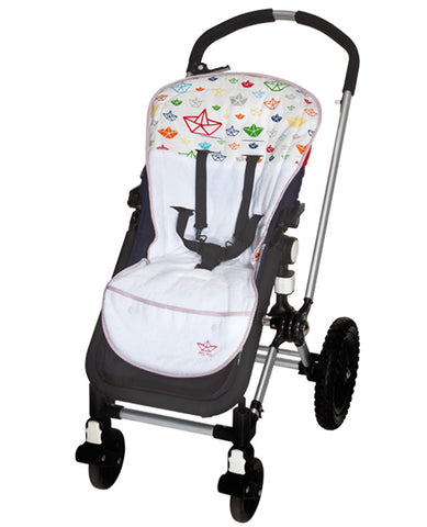 Terry Stroller Liner Multi-Colored Boats