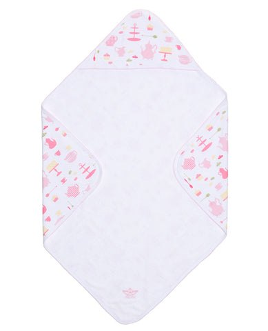 Baby Hooded Towel Tea Party