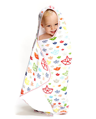 Toddler Hooded Towel Boats