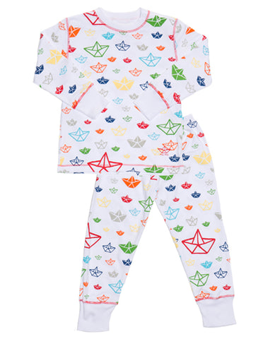 Pima Cotton PJs Boats