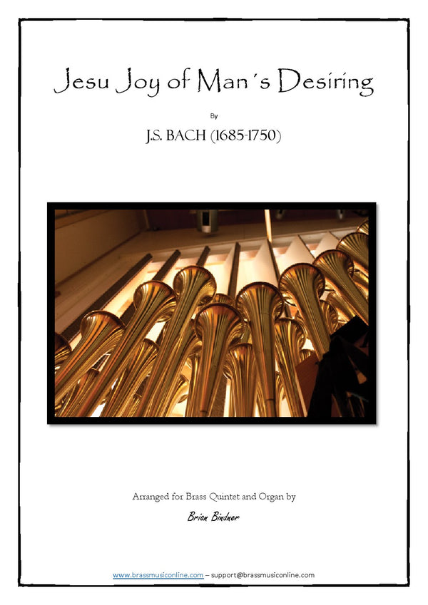 Bach - Jesu Joy of Man's Desiring - Brass Quintet and Organ