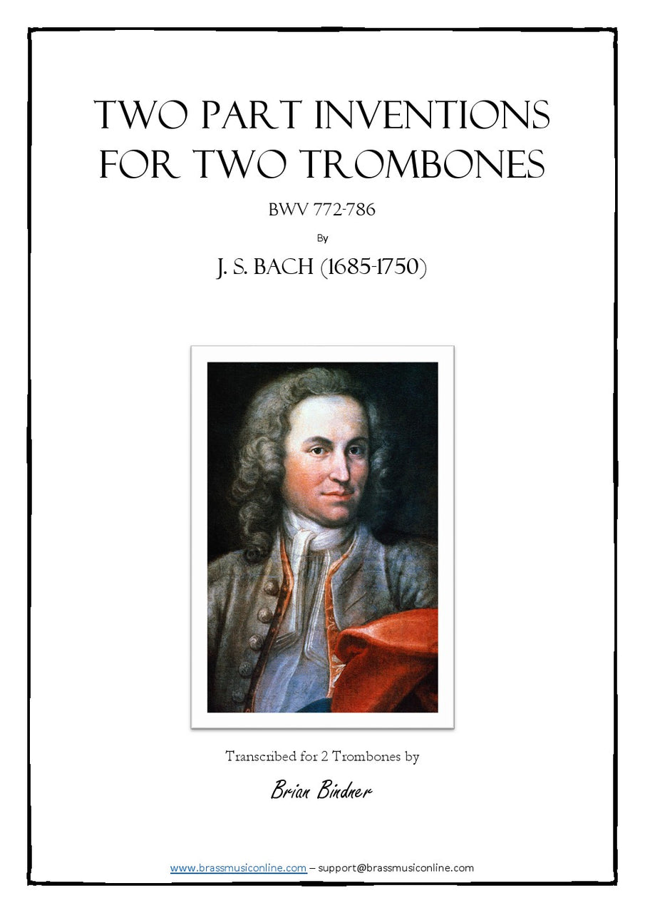 Bach - Two Part Inventions for Two Trombones (duet)