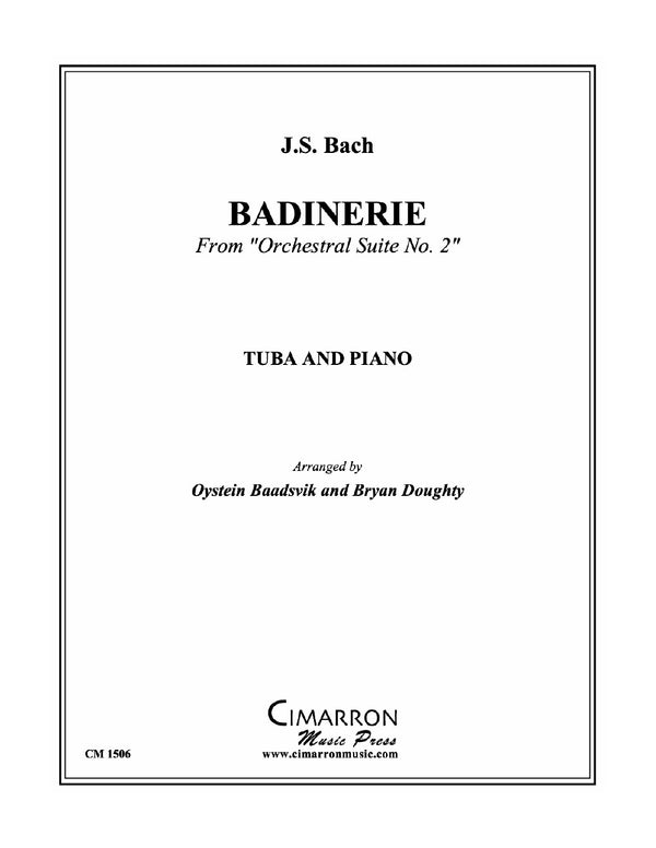 Bach - Baadsvik - Badinerie for Tuba and Piano