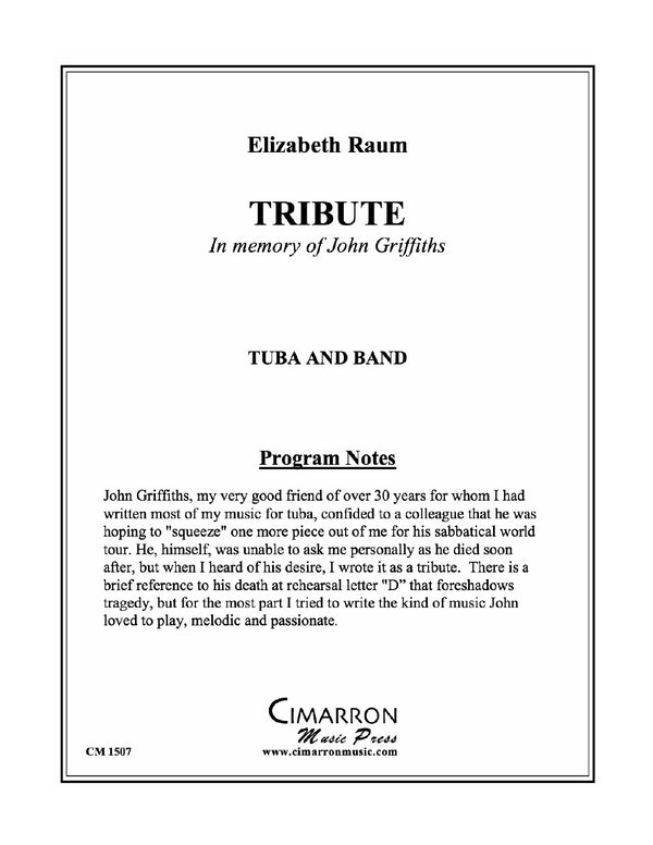 Raum - Tribute - Tuba and Concert Band
