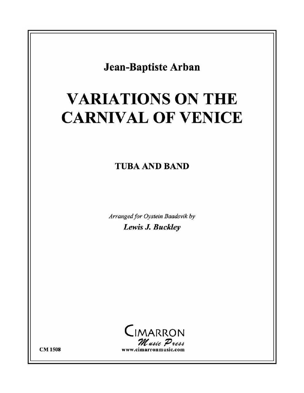 Arban - Variations on The Carnival of Venice for Tuba and Concert Band