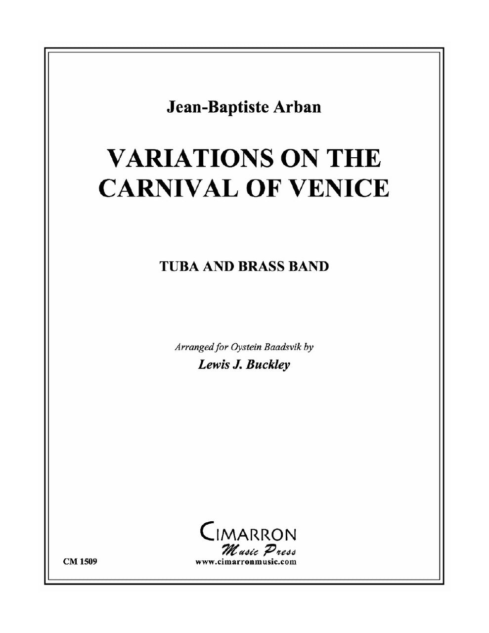 Arban - Variations on Carnival of Venice for Tuba and Brass Band