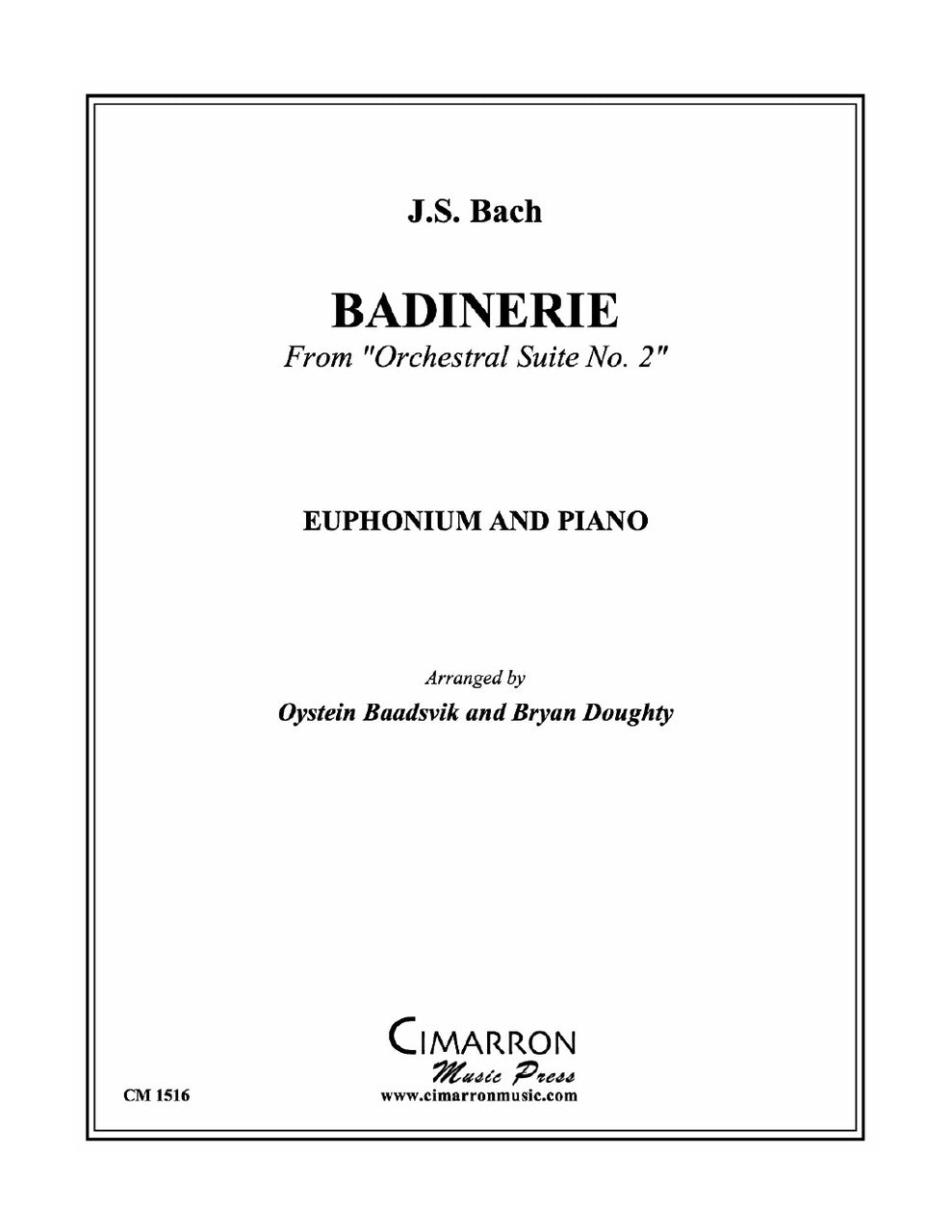 Bach - Badinerie for Euphonium and Piano