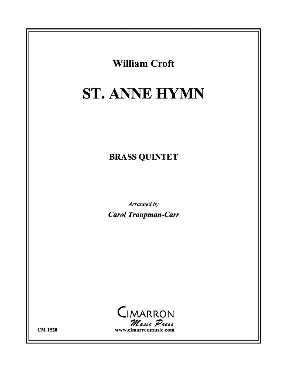 Croft - St. Anne Hymn - Brass Quintet