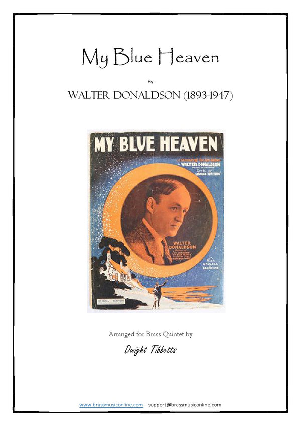 Donaldson - My Blue Heaven - Brass Quintet