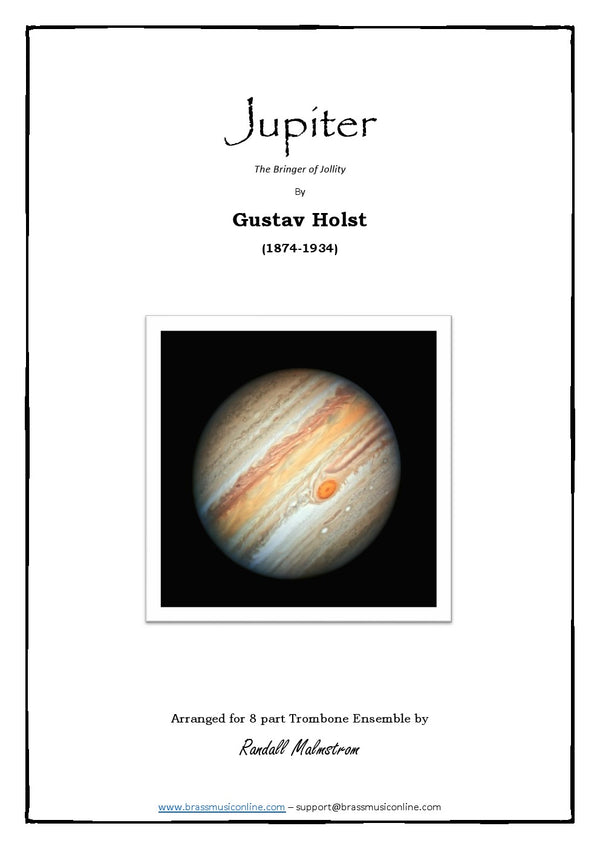 Holst - Jupiter, the bringer of Jollity - Trombone Ensemble