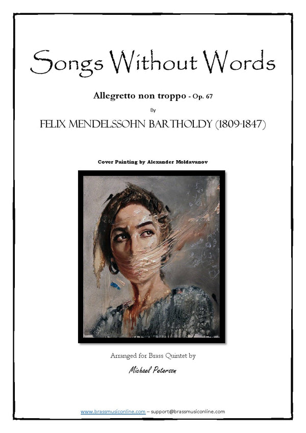 Mendelssohn - Songs without words Allegretto Op. 67 - Brass Quintet