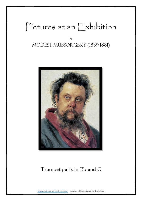 Mussorgsky - Pictures at an Exhibition - Trumpet parts in Bb and C